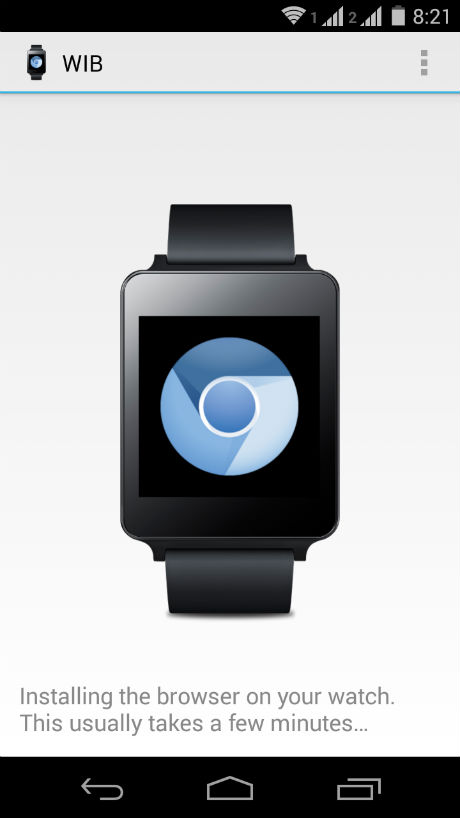 android wear web browser app