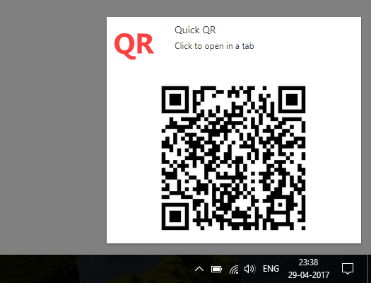 quick qr code chrome extension