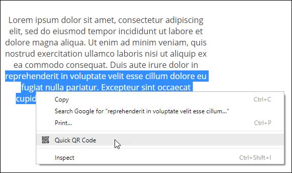 chrome-qrcode-text