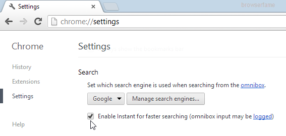 disable-chrome-instant-search