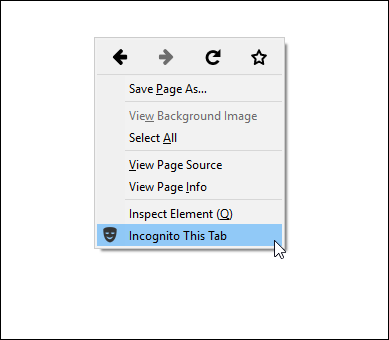firefox extension contextmenu option