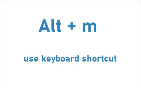 mail my tabs keyboard shortcut