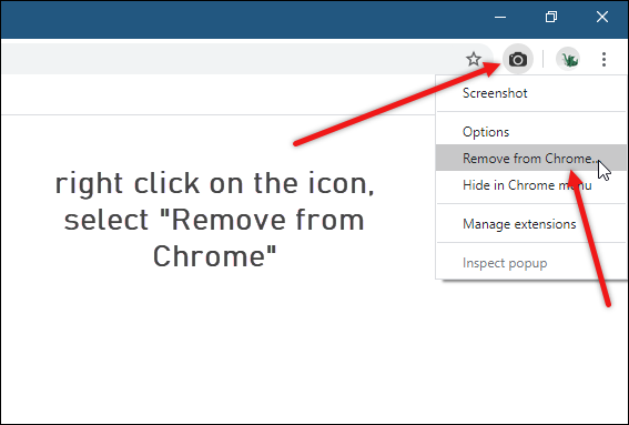 uninstall chrome extensions