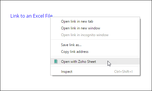 zoho online excel viewer